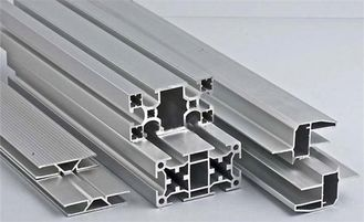 Non - Magnetic Aluminum Alloy Extrusion Profiles Silver Color With OEM Services